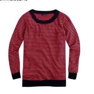 J Crew Tippi 100% merino striped sweater s…
